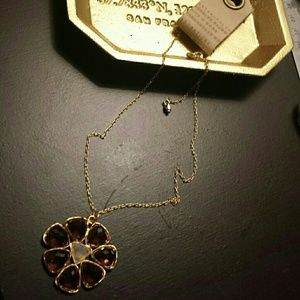 Anthropologie Flower Necklace NWT